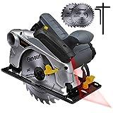 Handkreissäge, Ginour Professional Kreissäge 1500W 4700 RPM mit...
