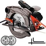 TACKLIFE 1500W 4700U Klassische Handkreissäge mit Laser, 2 Klingen...