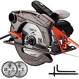 TACKLIFE 1500W 4700U Klassische Handkreissäge, Kreissäge mit Laser,...