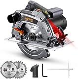 Handkreissäge, TACKLIFE Kreissäge 1500W 5000RPM mit Laser, Max....